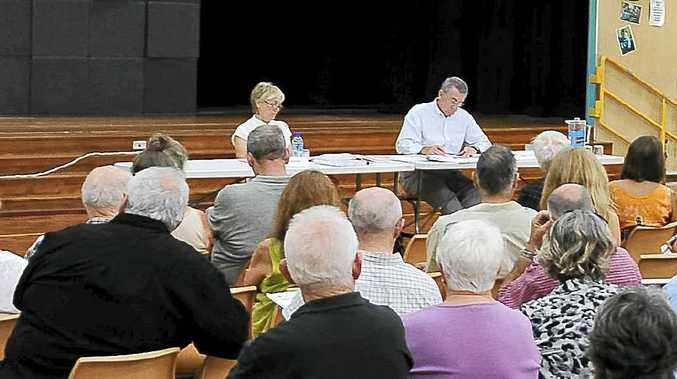 The public hearing into the proposed events site met at Ocean Shores Public School.