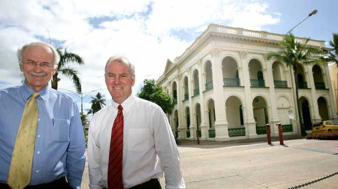 Andrew Palmer and Gerard Houlihan of Rees R & Sydney Jones outside its historic location on Quay Street as they prepare to move to a new loaction after a memorable 36 years.