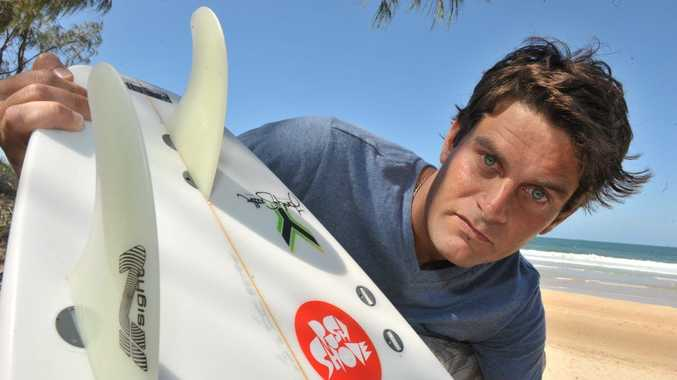 Nick Ferguson was brushed by a force that lifted him out of the water while surfing near Wurtulla. When he turned his board over he noticed one fin missing.
