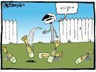 Cartoonist Jules Faber's humorous take on Steve Kassulke's letterbox dilemma.