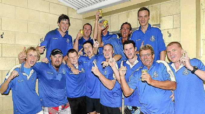 The winning Valleys Twenty20 cricket side. Pictured (from left) are Zach Gagen, Andrew Leppien, Connor Ryan, Slater Mitchell, Mitch Hillcoat, Liam O'Brien, Glen Brady, Carl Leupold, Matthew Brady, Shane Walker, Nathaniel Mills, Glynn Brook and Rod Venn.