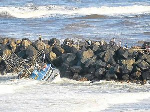 Trawler swallowed by sand