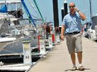 Ben Anderson at the Mackay Marina yesterday. Mackay is fast becoming the destination of choice for international yachties.