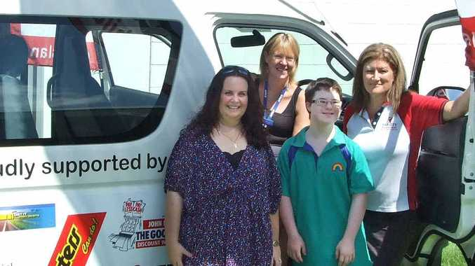 Mackay District Special School P&C; president Paula Broadstock, Mackay District Special School principal Sheina Treuel, student Zac O'Shea and Variety Club Mackay member Robyn Webster.