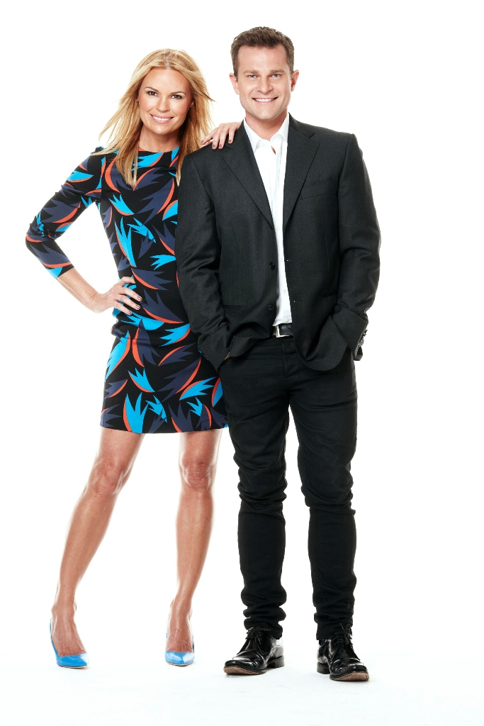 Sonia Kruger and David Campbell host Channel 9's new show MORNINGS.
