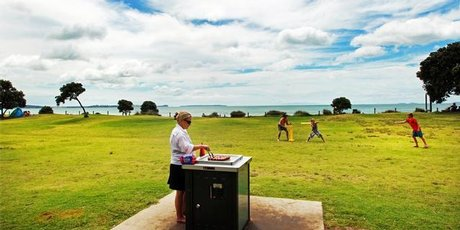 Long Bay Regional Park features three separate beaches and plenty of space for the kids to run off their pent-up energy.