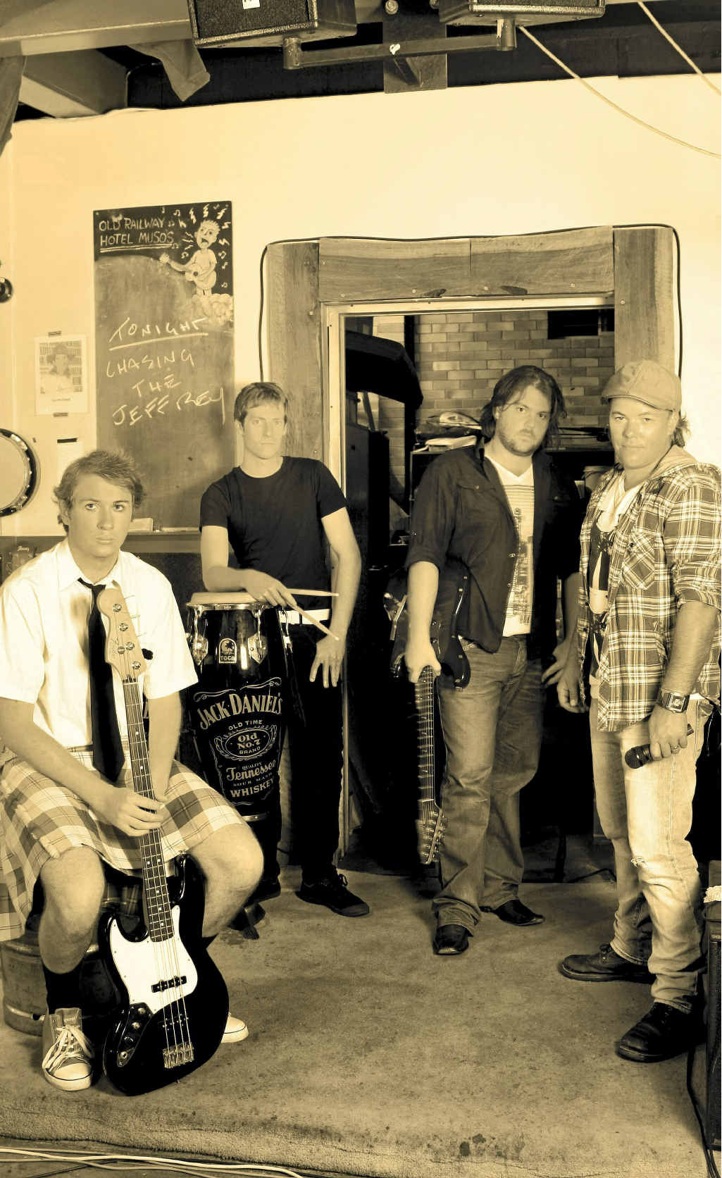 Mackay band Chasing the Jeffrey launched their debut album on Saturday at the Andergrove Tavern after years of hard work.