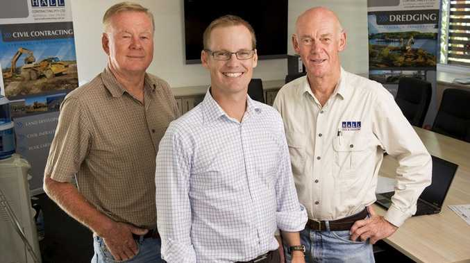 Peter, Cameron and Brian Hall of Hall Contracting: celebrating 65 years in business this year.