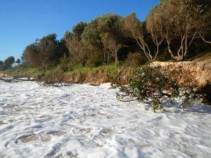 King tides erode beaches