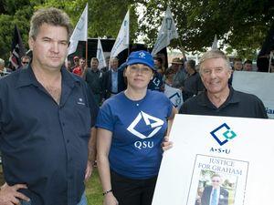 Unions rally over sacking