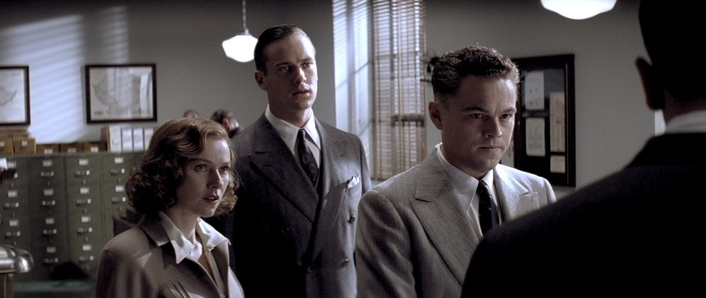 Naomi Watts (left) Armie Hammer (middle) and Leonardo DiCaprio (right) in a scene from the new movie J. Edgar.