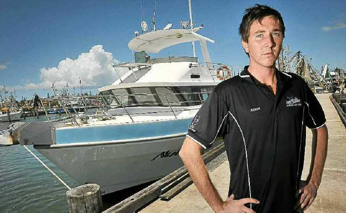 Fisherman Adam Rockliff is very concerned about the condition of the bar at the Mooloolah River mouth.