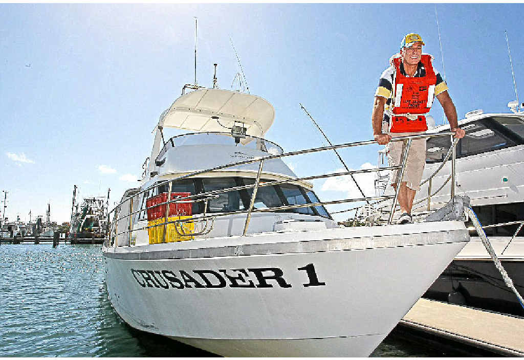 Jerry Van Driel-Vis of Mooloolaba Fish 'n' Crab is a stickler for passenger safety.