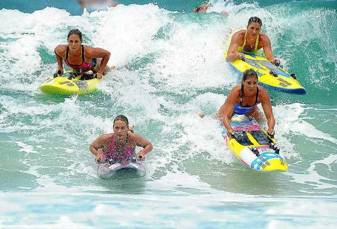 Ironwomen will be making waves on Sunday at Coolum Beach.