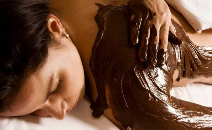 INDULGE: Enjoy a decadent chocolate massage.