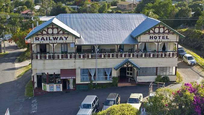 Gympie's Historic Railway Hotel has sold at auction, delighting Harcourts Real Estate principal Nathan O'Neill.
