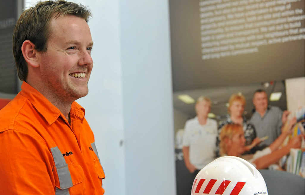 Tom Robertson loves working at Rio Tinto.