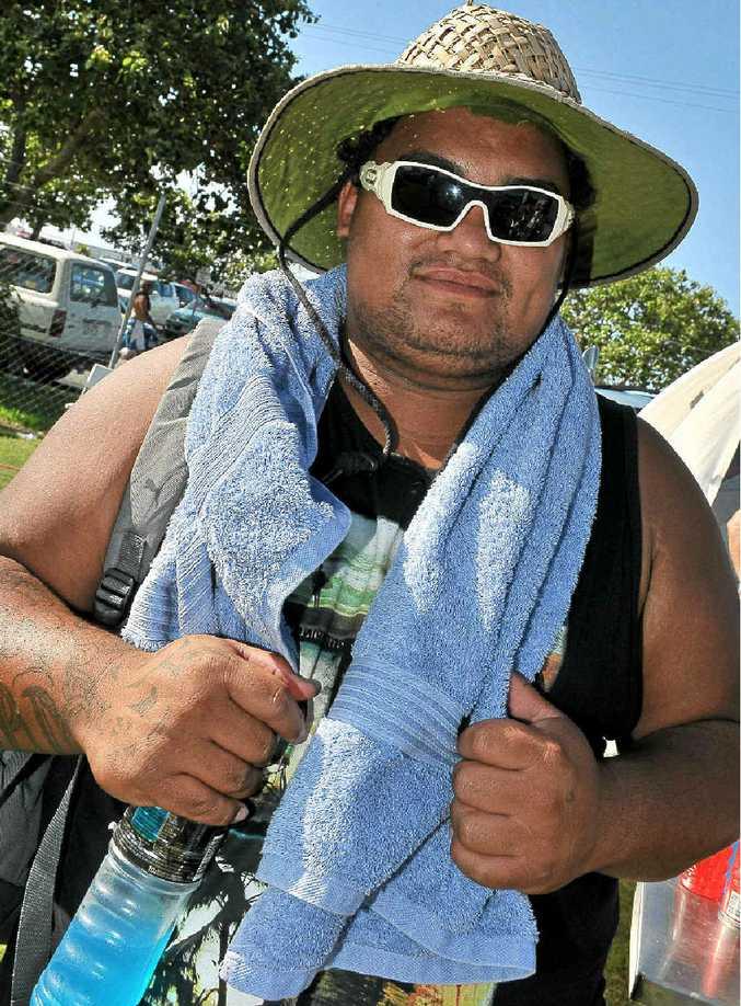 Brendan Tepanie at the Waitangi Day at Stockland Park.