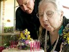 Thelma Altmann-Davis celebrates her 100th birthday with family and friends.