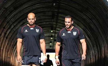 Sam Rapira (left) damaged his shoulder and his brother Steve suffered a high ankle sprain against Souths.