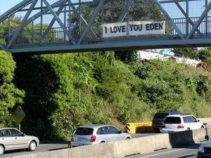 Eden gets public message of love