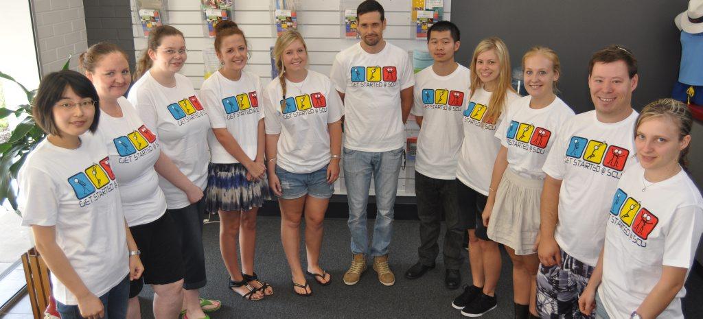 Volunteer student orientation leaders at Southern Cross University.