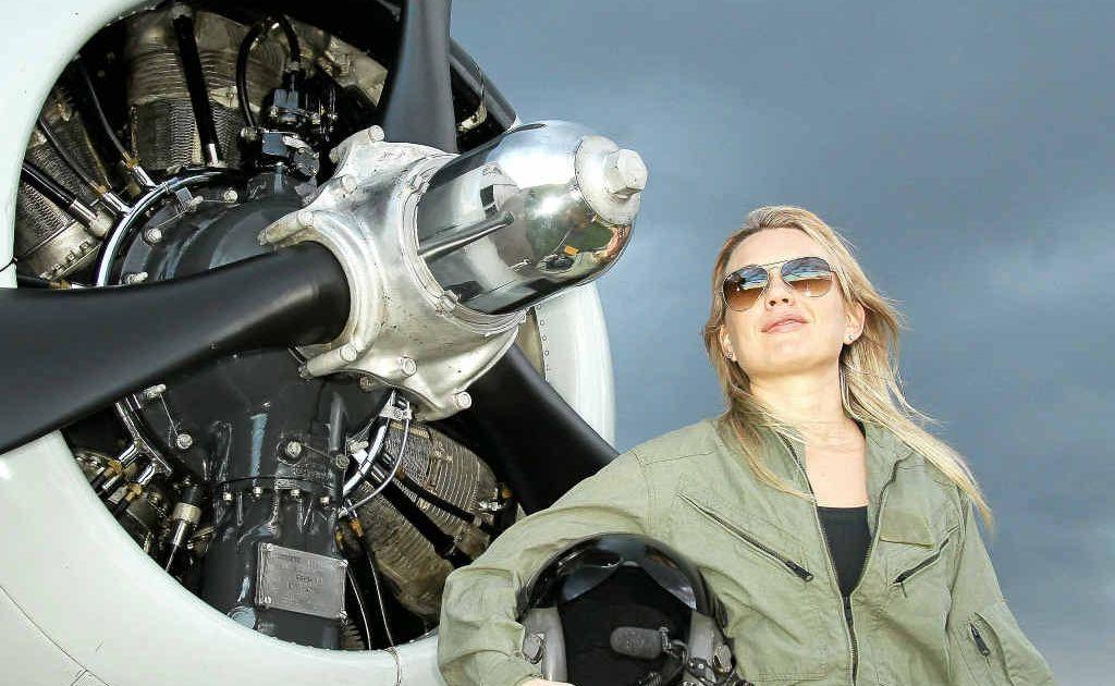 Gin Gin pilot Rachel Mullett and her partner Tim Berry have started an adventure flight business with their rare T28 Trojan warbird.