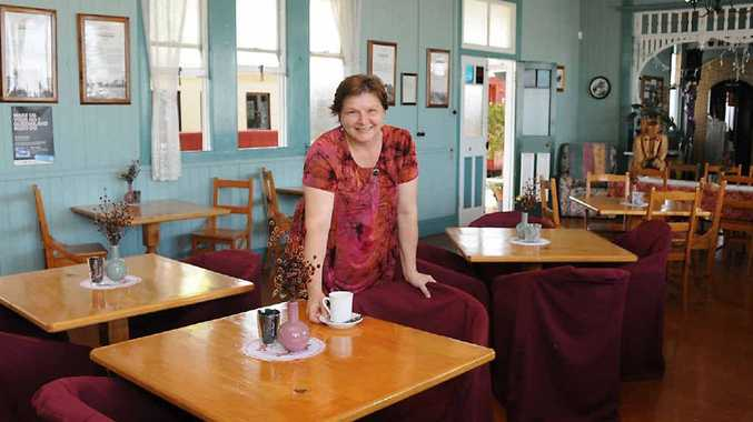 Bianca Nagy from the Mary Valley Heritage Railway Cafe enjoys providing an enjoyable dining experience.