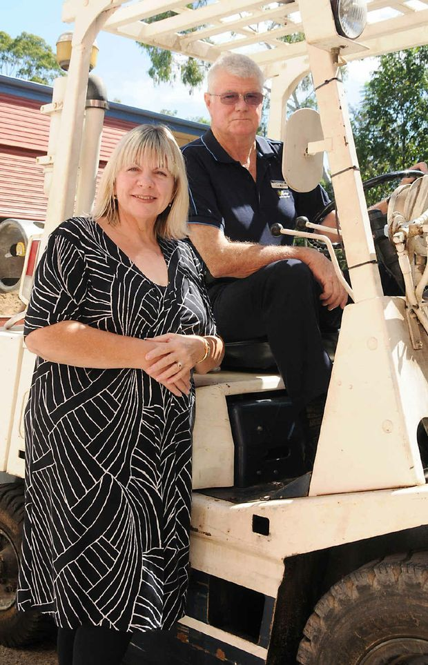 Jo and Gerry Tempelman will spend Valentine's Day together at work. They have both worked in the transport industry and now work at Wide Bay TAFE, Gympie.