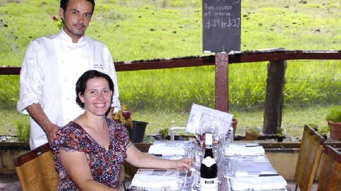 =In Tintenbar, Chez Bon, French restaurant, Rodolphe Ferreol and Pascale Moreau.