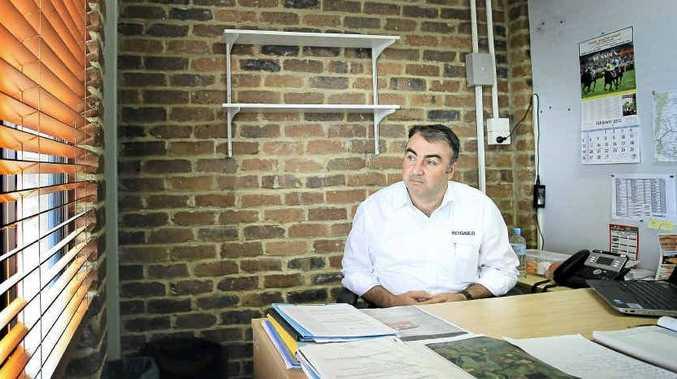 NO INQUIRY: Stuart George at in his office at Metgasco. Blainey Woodham