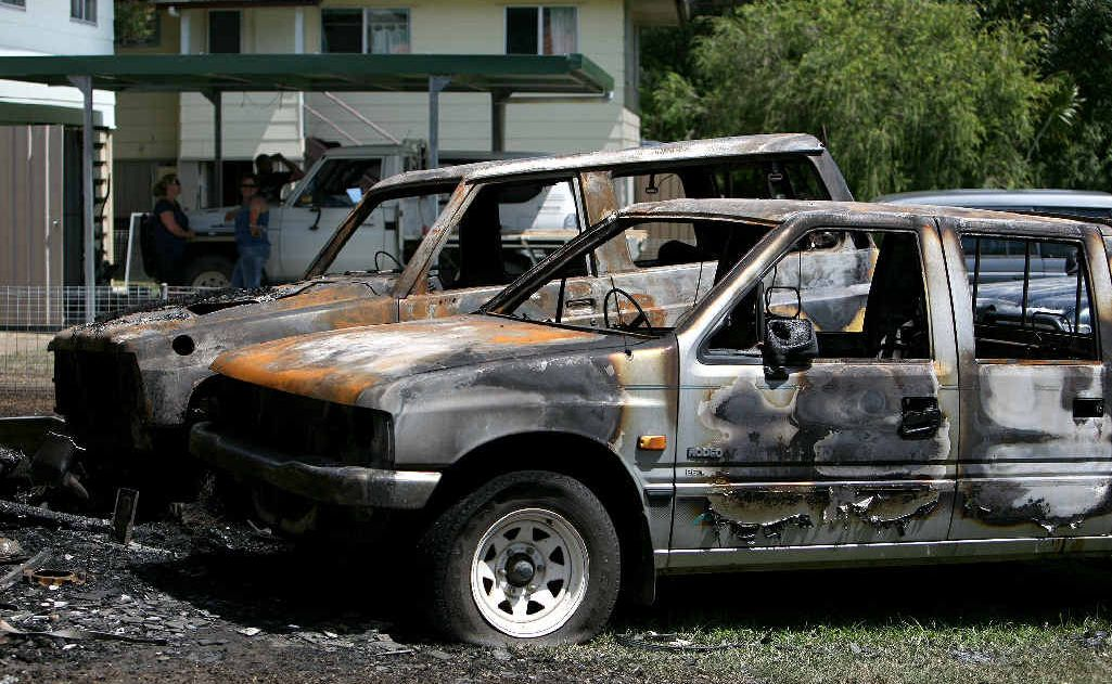 Tony Dale and his partner Natasha Brumpton lost several cars in the fire early Sunday morning.