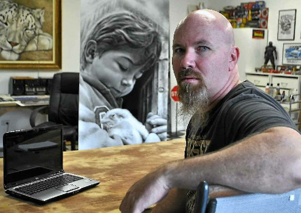 Warwick artist Steve Parker will sell his works of art online after creating a website.