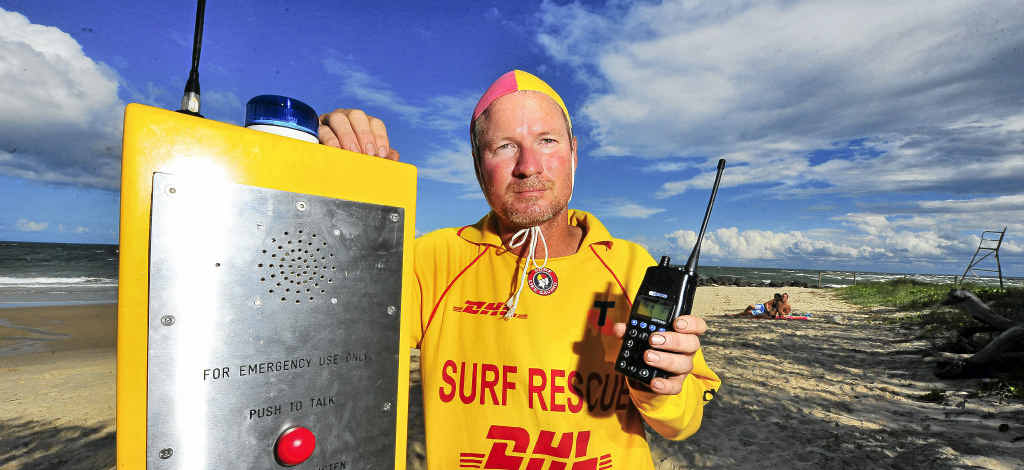 Elliott Heads surf club member Jeff Heaton hopes a new radio beacon will mean faster rescues.
