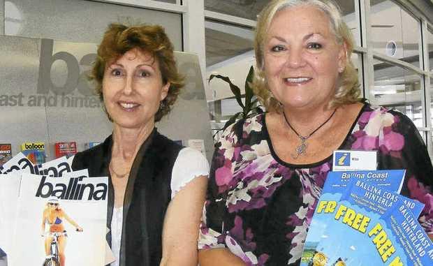 WELCOME: Volunteer Tourism Ambassadors Liz Taylor (left) and Rita Cranston at Ballina airport.