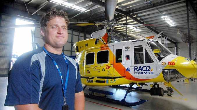 RACQ-CQ Rescue crewman Dave Williams says most small children are overwhelmed by the prospect of a helicopter flight but he and his colleagues did their best to put them at ease.