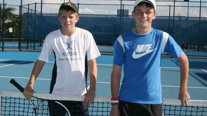 Young tennis players Lleyton Parle and Joshua Holloway are looking for more players in junior competitions.