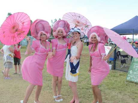 FUN TIMES: Enjoying last year's Clifton Show are the Crack Up Sisters with Showgirl Theresa Comerford.