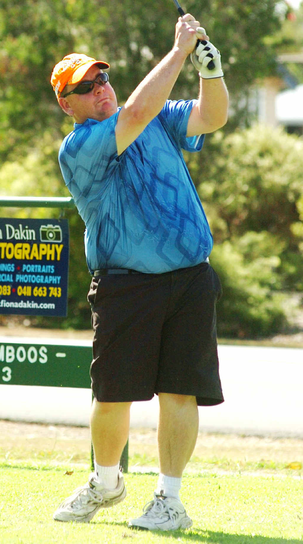 Big-hitting Daryn Brims carded his best round on his way to winning on Saturday.