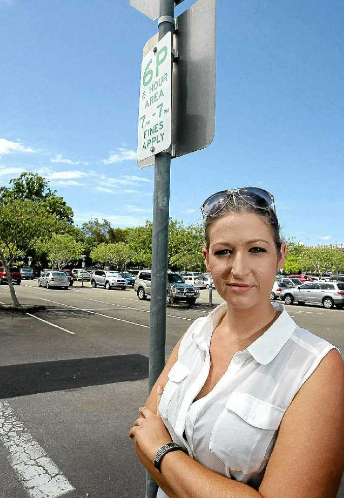 Sunshine Plaza retailer Abbie Black is upset that parking fines have increased from $30 to $100.