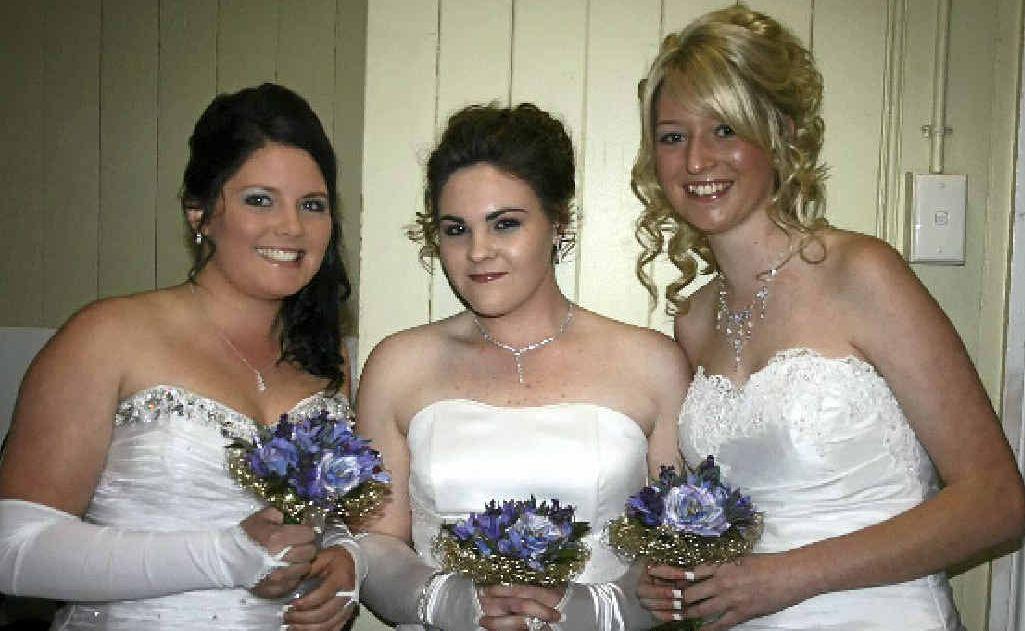 Monique Hannemann, Marlee Mason and Charlotte Hockings at the Catholic Debutante Ball in 2010.