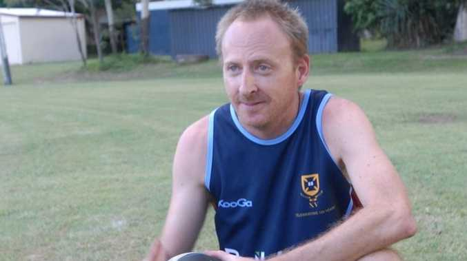 Slade Point coach Michael Jackson at training in Mackay.