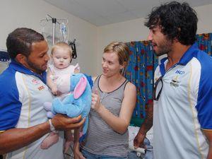 Two Cowboys visit children's ward