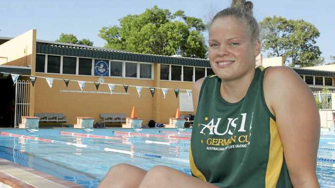 Former Rockhampton Grammar Student Miranda Bell came second overall at the German Pool Rescue Cup.