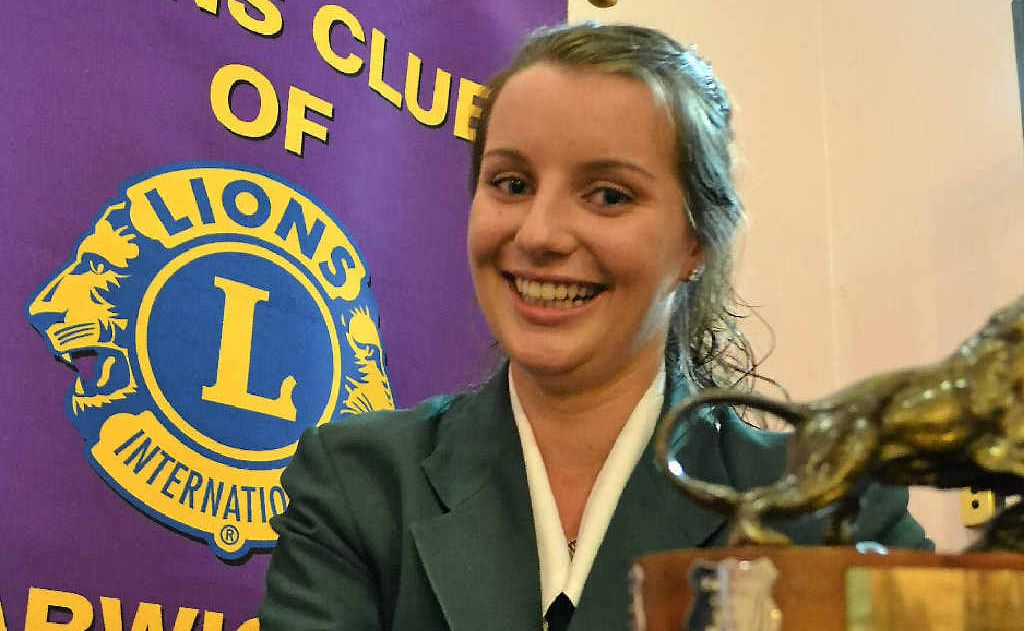 Tessa O'Brien is this year's Lions Club of Warwick youth of the year.