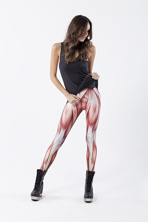 Muscle leggings by Black Milk Clothing.