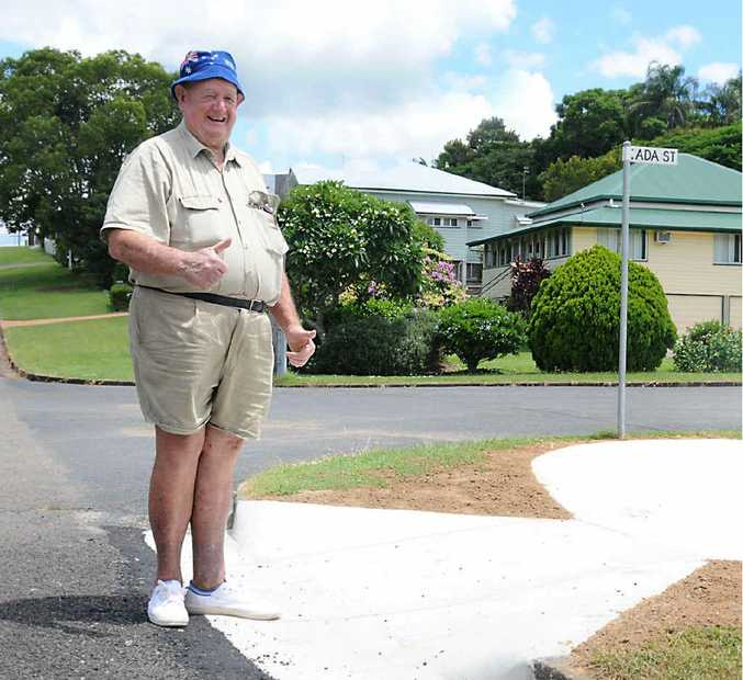 Wally Laycock is delighted to have played a role in securing a safer footpath.