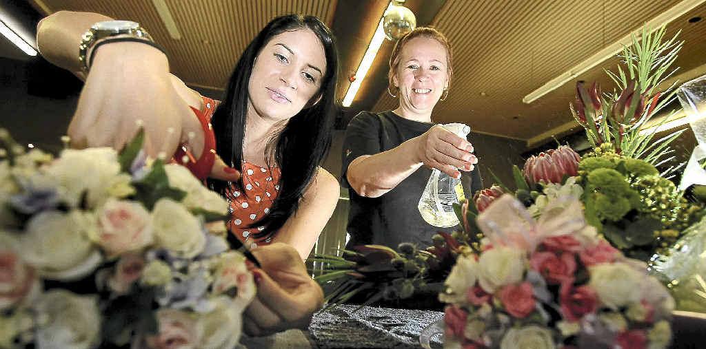 Student Emma Ferrari and Floristry School of Australia owner Joanne Groombridge.