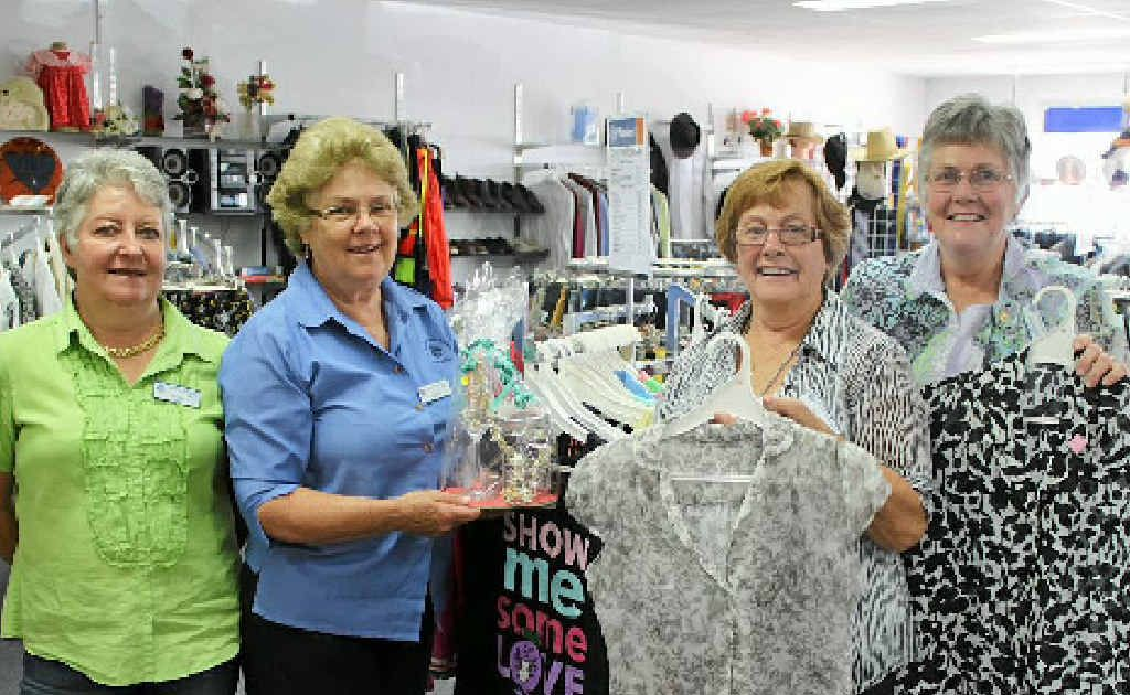 (From left) Dawn Locke, Barbara Matthews, Dianna Bate and Margaret Ryan with donated gear.