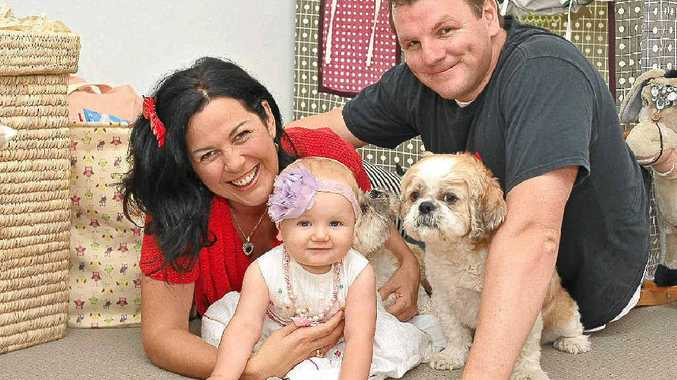 Samille Muirhead and Sam Bohner celebrate the first birthday of their daughter Avalon.